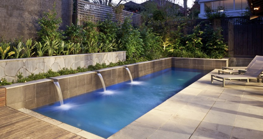Natural Pools Attractive Outdoor Area with a Courtyard Pool