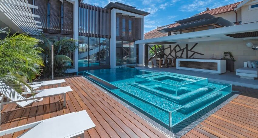 Building Beautiful Residential Pools for Every Backyard - Glass Swimming Pool Mooney Ponds