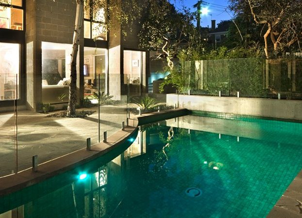 Natural Pools Building Courtyard and Plunge Pools