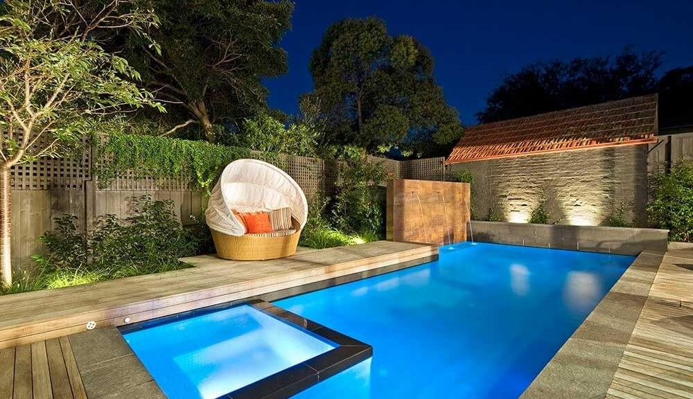 Backyard Pool Design L Shaped Pool To Utilise The Space