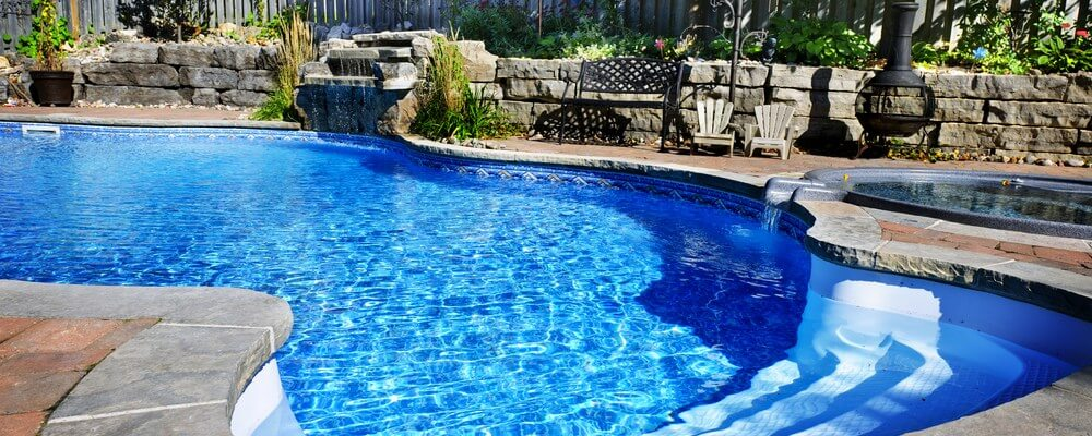 Hardscaping of the swimming pool area