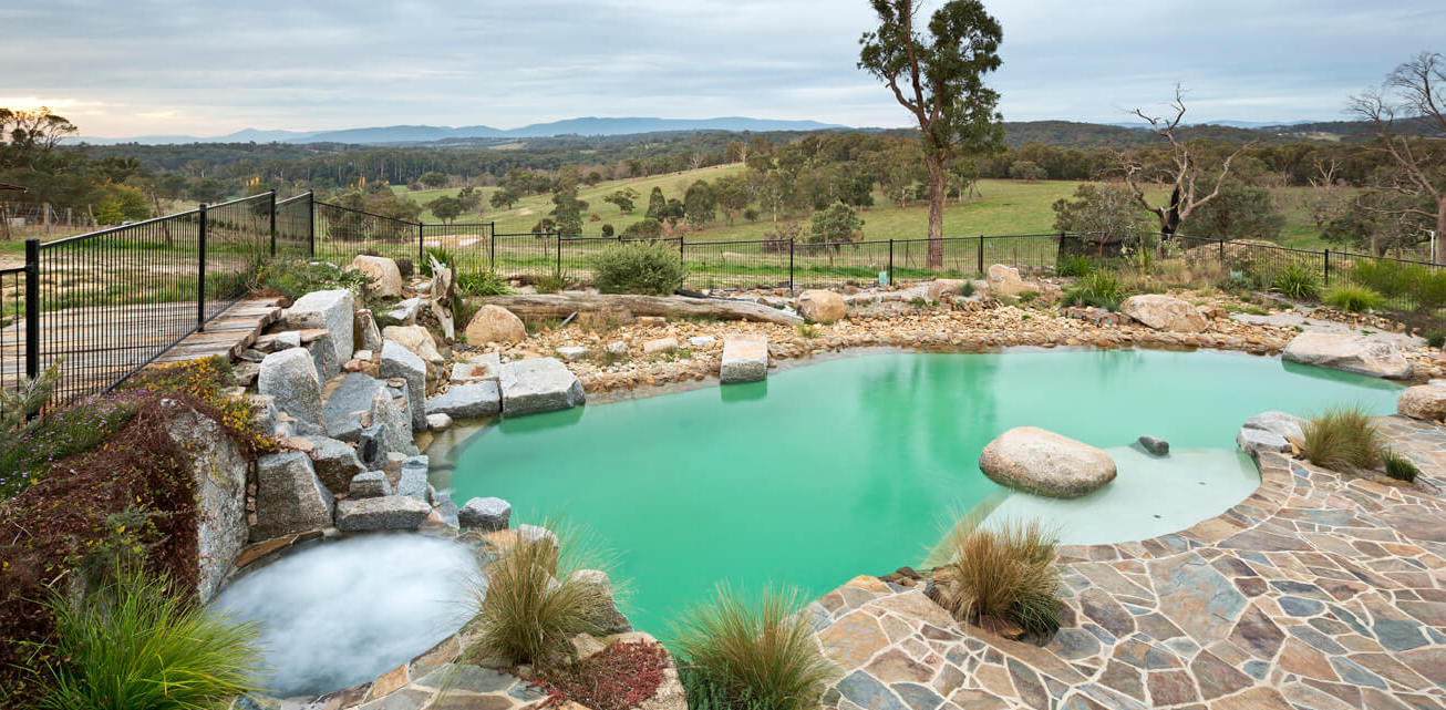 The right type of swimming pool. Natural pool